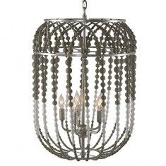 Aidan Gray Large Oval Chandelier - White