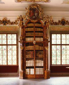 in Vyšší Brod monastery library (Czech Republic)