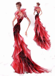 Blanka Matragi – sketch of dresses