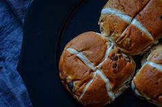 Hot Cross Bun from Sainsbury UK Image ~ ©Nessy Samuel #NessySamuelPhotography #FoodPhotography #FoodStyling #Photographer