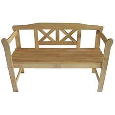 FoxHunter New Outdoor Indoor Home 2 Seat Seater Wood Wooden Garden Bench Hardwood Furniture Picnic Patio Park
