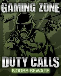 Gaming Zone - Duty Calls Mini Poster, my tween son would love this for his bedroom