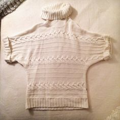 White knit turtleneck sweater:) 💕 Barely ever worn, like brand new. Says Euro 36/38 but best fits S for loose and M for tight. 50% cotton, 50% polyacrylic 😉.             ▫️▫️▫️▫️▫️▫️▫️▫️▫️▫️▫️▫️▫️▫️▫️➡️📱Follow me on Instagram: @moveinstylemis.                                                    👍💻 Like me on Facebook: Move in Style by Marta Bubka                                                           ✅🎥 Subscribe to my YouTube channel: @moveinstylebymarta 💋✨ Flashlights Sweaters…