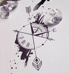 Boussole et horloge