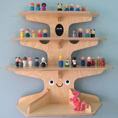 wooden treehouse shelf - cool   u hoo little one, need one of these one day