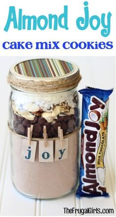 33 Best Mason Jar Cookie Recipes Best Mason Jar Cookies - Almond Joy Cookie Mix - Mason Jar Cookie Recipe Mix for Cute Decorated DIY Gifts - Easy Chocola. Mason Jar Cookie Recipes, Mason Jar Cookies, Almond Joy Cake, Almond Joy Cookies, Almond Milk, Coconut Milk, Mason Jar Mixes, Mason Jars, Mason Jar Twine
