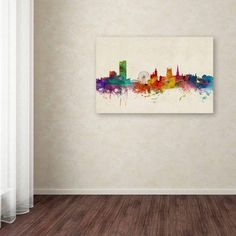 Trademark Fine Art Sheffield England Skyline Canvas Art by Michael Tompsett, Size: 12 x 19, Multicolor