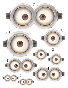 INSTANT DOWNLOAD D Minion Eyes 7 x 33 and 43x33 inch by Samair