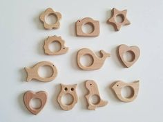 Natural Maple Wooden teether ring- 100% non toxic! No oils or waxes used. We recomend attaching these wooden rings to paci clips etc... Add to any of our clips- but can be sold seperatly too! Clean with a wet cloth and dry with a towel. We do not recomend to submerge natural wooden