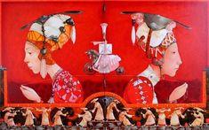 Merab Gagiladze Culture, Artist, Painting, Character, Artists, Painting Art, Paintings, Painted Canvas, Lettering