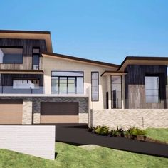 Mountain Modern underway… Early design concept for fantastic clients! So excited to start construction. Modern Architecture House, Architecture Design, Plans Architecture, Small Modern Home, Contemporary Home Exteriors, Modern House Plans, Modern Houses, Modern Wood House, Modern Bungalow House Design