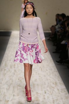 Comfortable and colourful! Blugirl RTW Spring 2013 - Runway, Fashion Week, Reviews and Slideshows - WWD.com