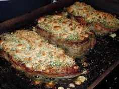 Blue Cheese crusted steaks