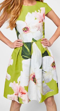 a76a7715e09cdf Need outfit inspiration for the Kentucky Derby. Love this on trend Ted Baker  Floral Dress