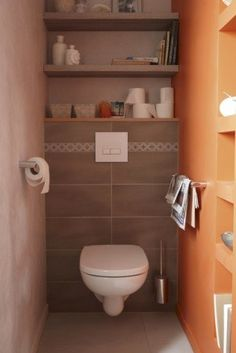 habillage wc suspendu penser aux niches de rangement pour la cloison wc baignoire | SALLE DE ...