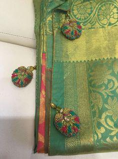 Saree Tassels Designs, Saree Kuchu Designs, Blouse Designs, Dress Designs, Stylish Dresses For Girls, Nice Dresses, Awesome Dresses, Indian Wear, Indian Attire