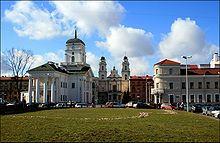 El territori de la Belarús actual pertanyia a l'antiga Edat Mitjana a l'estat del Principat de Kíev o Rus' de Kíev. Amb el temps, però, el territori va ser part del Gran Ducat de Lituània.