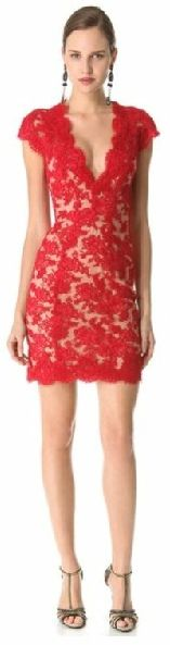26 Great dresses for Valentine's Day Date, red lace dress
