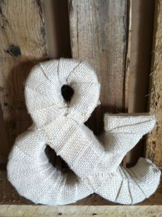 Burlap Wrapped Letter. Ready for your shelf or wedding table. $18.00, via Etsy.