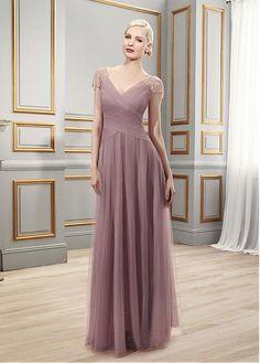 Romantic Chiffon V-neck Floor-length A-line Mother of the Bride Dresses