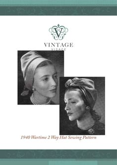 How to make a 1940s style Turban Bonnet 2 way hat- easy make sewing pattern eBook: Vintage Visage: Amazon.co.uk: Kindle Store