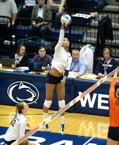 PENN STATE – ATHLETICS – DOMINIQUE GONZALEZ, Ariel Scott and Nia Grant led Lions Saturday, after Micha Hancock broke Penn State's career record for aces Friday night.