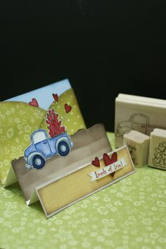 Instead of using Stampin' Up! stamps to create this card, I'll use my Cricut & my fav truck image