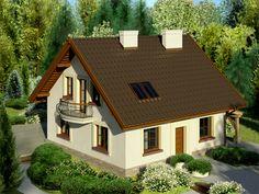 DOM.PL™ - Projekt domu Dom przy Cyprysowej 26 CE - DOM EB3-27 - gotowy projekt domu