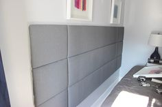 DIY Tufted Panel Headboard   Home Coming for Remodelaholic.com