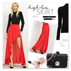 """High-low Skirt"" by mycherryblossom ❤ liked on Polyvore featuring Misha Nonoo"