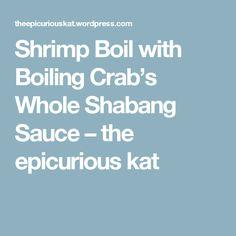 Shrimp Boil with Boiling Crab's Whole Shabang Sauce – the epicurious kat Cajun Recipes, Copycat Recipes, Seafood Recipes, Cooking Recipes, Cooking Ideas, Halloween Appetizers, Finger Food Appetizers, Finger Foods, Crab Boil
