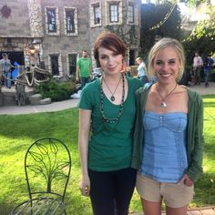 Love Felicia Day's necklace and shirt here.