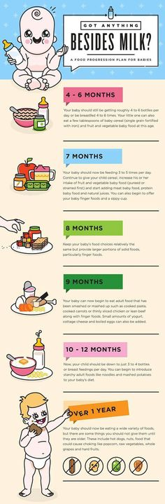 A Food Progression Plan for Babies
