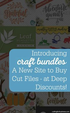 Introducing Craft Bundles - A New Site to Buy SVG and DXF Cut Files at Deep Discounts! Perfect for Silhouette Cameo, Curio, Mint, and Cricut Explore users. By cuttingforbusiness.com.