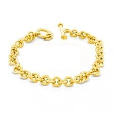 Bling Jewelry Classic Gold Vermeil Round Link Charm Toggle Bracelet Bling Jewelry. $59.99. Toggle Clasp. 14k Gold vermeil. Charm Bracelet. Save 52%!