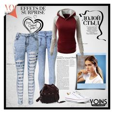 """""""Yoins 5/10 II"""" by miranda-993 ❤ liked on Polyvore featuring Converse, outfit, chic, fab and yoins"""