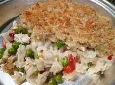 Chicken Alfredo Rice Casserole