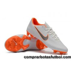 promo code f7fe8 fd912 Antiguas Botas De Futbol Nike Niños Mercurial Vapor XII Pro FG Blanco Gris  Naranja