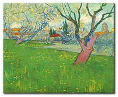 MU_VG2022 t_Van Gogh _ Orchards in blossom, view of Arles / Cuadro Arte Famoso, Huertos en Flor