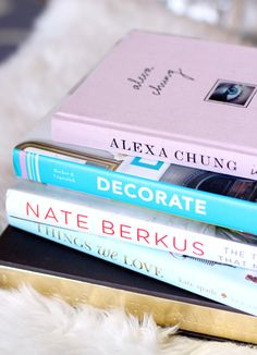 the perfect coffee table books for meeeee.   city chic decor
