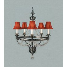 View the Framburg FR 2065 Crystal 5 Light Chandelier from the Isolde Collection at LightingDirect.com.
