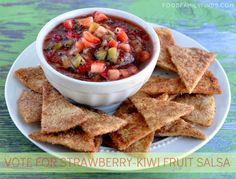Yum - fruity salsa!  http://foodfamilyfinds.com/50-giveaway-eat-interesting-this-summer-vote-for-your-favorite-mission-meal/