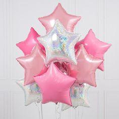 Baby Blue Balloon Garland - Bubblegum Balloons - Shop Online – The Original Party Bag Company Bubblegum Balloons, Up Balloons, Letter Balloons, Princess Star, Princess Party, Balloon Shop, Pretty Star, Balloon Decorations, Balloon Ideas