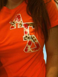 A cute new way to wear letters! I MAY have to try this, especially since I make my own!!!!