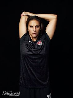 Carli Lloyd, USWNT soccer midfielder, poses for The Hollywood reporter.
