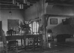 Lobby of the El Ortiz Hotel, Lamy, New Mexico :: Palace of the Governors Photo Archives Collection   1920