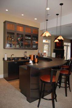Beautiful Ways To Remodeling Basements. Basement Bar DesignsBasement ...