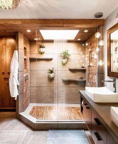 Bathroom Design Small, Bathroom Layout, Simple Bathroom, Bathroom Interior Design, Bathroom Designs, Natural Bathroom, Tile Layout, Minimal Bathroom, Cool Bathroom Ideas