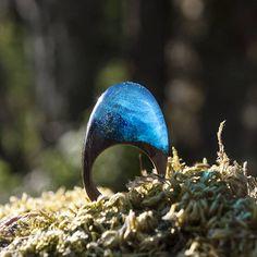 Atlantic Ocean resin and wood ring