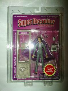 Yahoo ! hotjobs Super recruiter female limited edition action figure #Yahoo